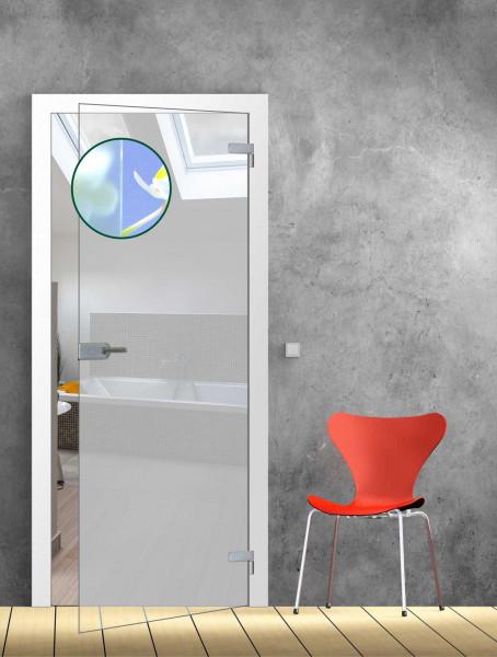 Ganzglastür Satinato TB 86 - Glasmaß: 834 x 1972 mm