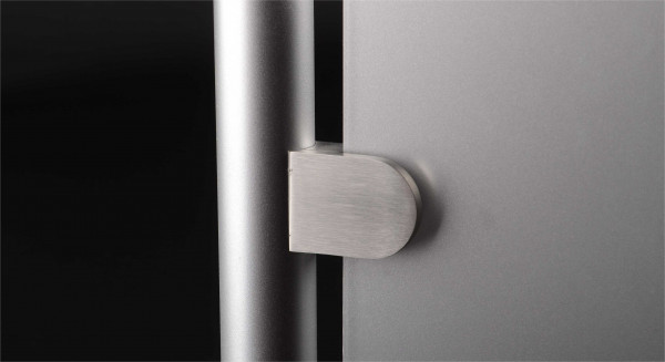 Glasklemme Edelstahl V2A 50x40 mm rund | PS:6-10,76 mm | Rohr 42,4 mm
