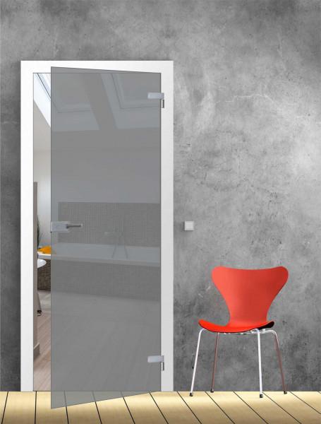 Ganzglastür grau TB 98,5 - Glasmaß: 959 x 1972 mm