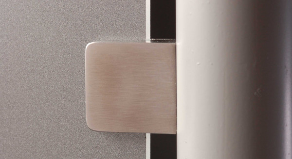 Glasscheibenhalter V2A 30 x 30 mm für Rohr