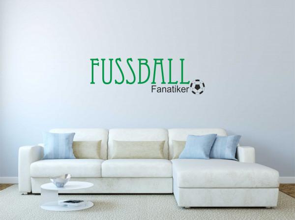 Wandtattoo Fußballfanatiker