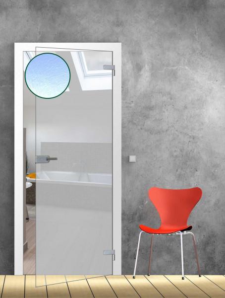 Ganzglastür Chinchilla weiß TB 86 - Glasmaß: 834 x 1972 mm
