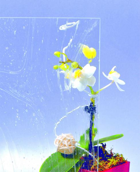 Glasmuster 9 x 9 cm - Altdeutsch K weiß 4 mm