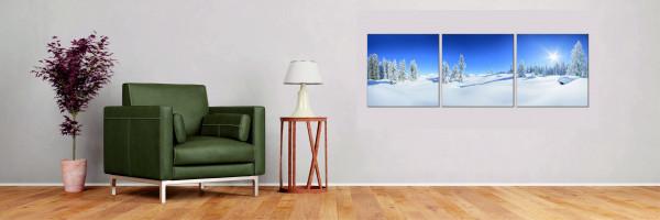 Winterlandschaft 3-teilig