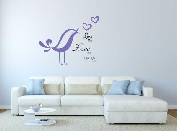 Wandtattoo Live Love Laugh