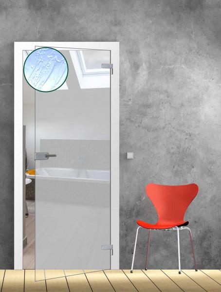 Ganzglastür Barock weiß TB 73,5 - Glasmaß: 709 x 1972 mm