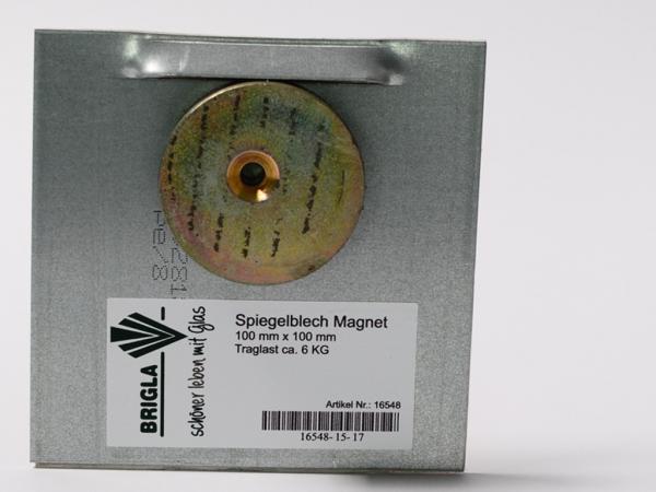 Spiegelblech mit Magnet 100/100mm