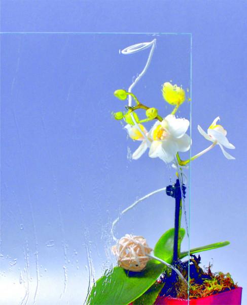 Glasmuster 9 x 9 cm - Gotik weiß 4 mm