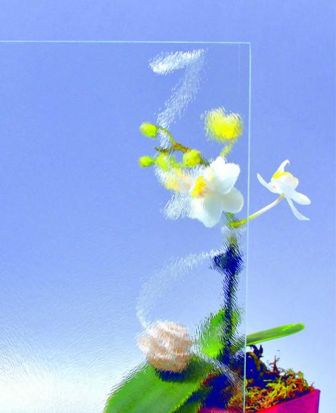 Glasmuster 9 x 9 cm - Chinchilla weiß 4 mm
