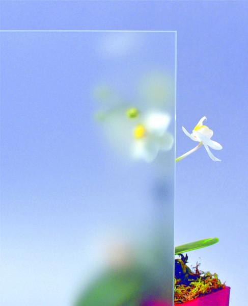 Glasmuster 9 x 9 cm - Satinato weiß 4 mm