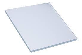 Satinato 8 mm weiß, Maß: 350 x 300 mm, umlaufend polierte Kante