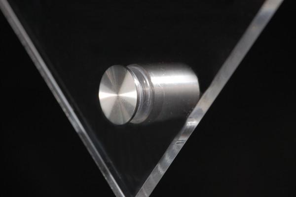 Glashalter schraubbar Edelstahl V2A Ø 15 mm WA: 15 mm PS: 2-12 mm