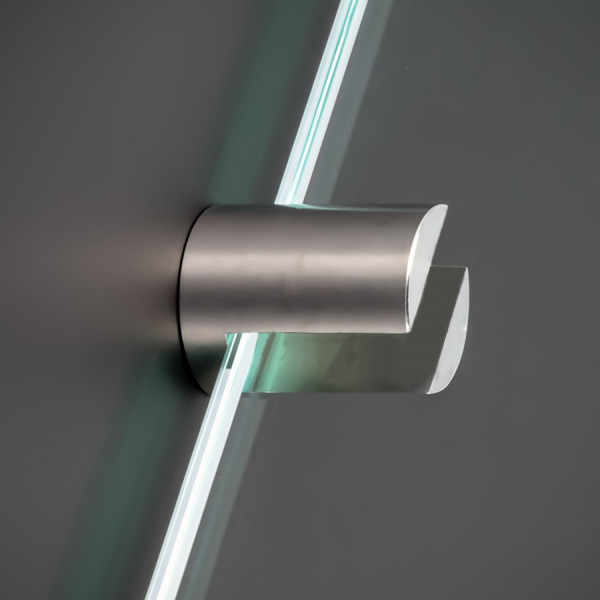 Plattenhalter Edelstahl Ø: 20 L:25 WA: 5mm PS: 3-10mm Glasbodenhalter