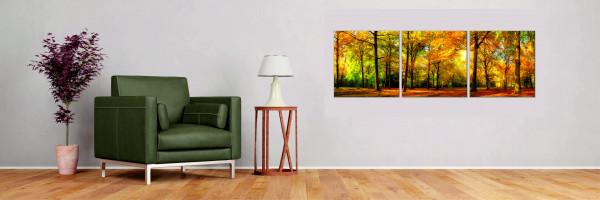 Herbstwald 3-teilig