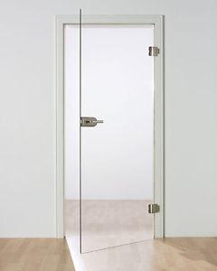Ganzglastür Klarglas TB 98,5 - Glasmaß: 959 x 1972 mm