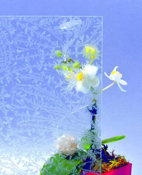 Glasmuster 9 x 9 cm - Eisblumenglas 6 mm