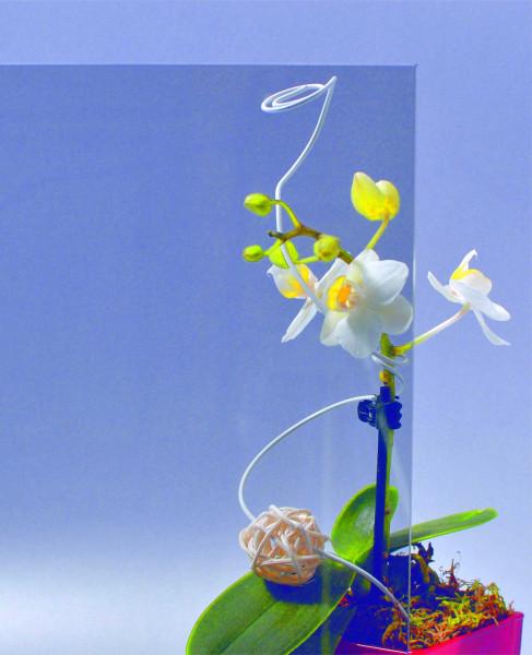 Glasmuster 9 x 9 cm - Parsol grau 4 mm