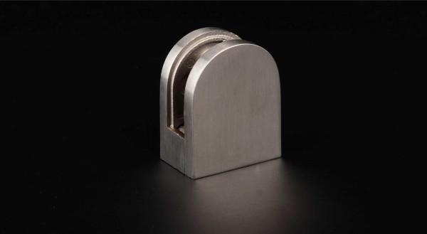 Glashalter Edelstahl V2A 50 x 40 mm PS: 6- 10,76 mm rund | flach